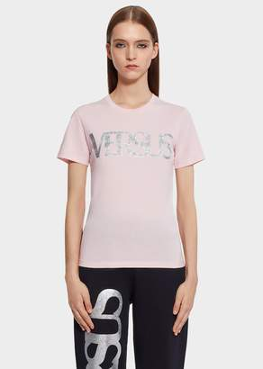 Versace Versus Holographic Logo Slim Fit T-Shirt