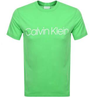 Calvin Klein Logo T Shirt Green