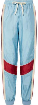 Gucci Paneled Shell Track Pants - Sky blue