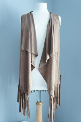 Papermoon Paper Moon Fringe Suede Vest