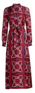 Valentino Bandana-Print Silk Shirtdress