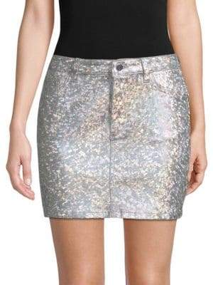 Brit Metallic Pencil Skirt