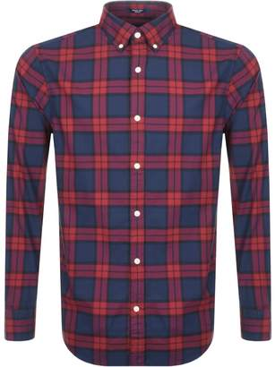 Gant Winter Twill Blackwatch Check Shirt Red