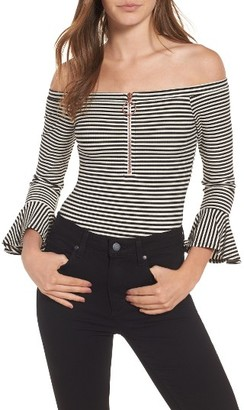 Women's Willow & Clay Off The Shoulder Bodysuit $79 thestylecure.com