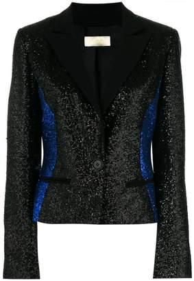 Elie Saab glittered colour block blazer