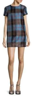 MSGM Plaid-Print Shift Dress