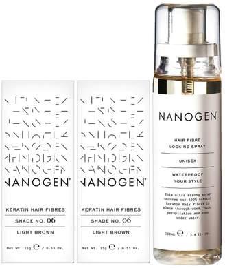 Nanogen Hair Thickening Fibres Light Brown - 2 x 15g Bundle