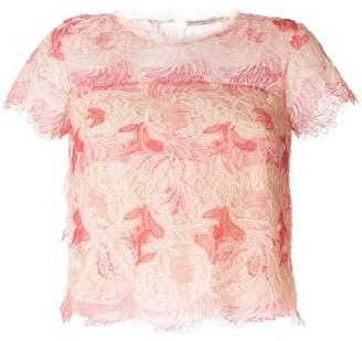 Ermanno Scervino lace flower blouse