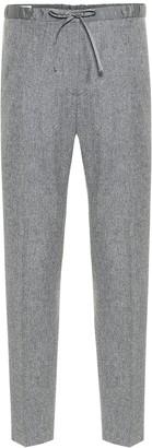 Jil Sander High-rise straight wool-blend pants