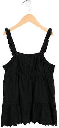 Ralph Lauren Girls' Embroidered Sleeveless Top