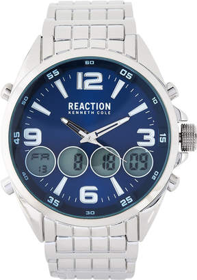 Kenneth Cole Reaction RK50177002 Silver-Tone Analog-Digital Watch