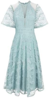 Temperley London Haze Lace Sleeved Dress