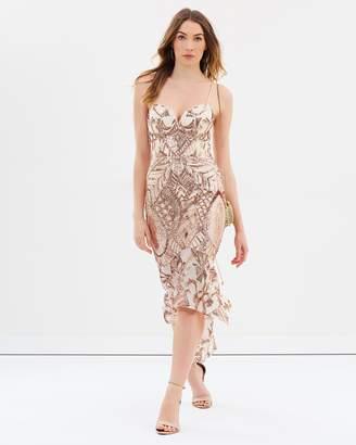 Jade Bustier Pattern Sequin Midi Dress