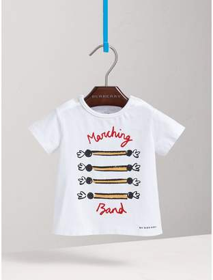 Burberry Parade Print Cotton T-shirt