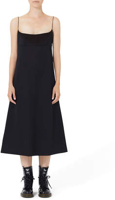Marc Jacobs Wool-Twill Spaghetti Strap Dress