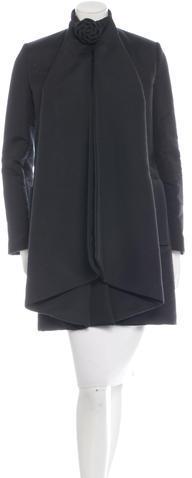 ValentinoValentino Wool-Blend Draped Coat