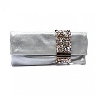 Jimmy Choo Chandra Silver Leather Clutch bags