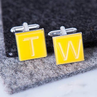 Clouds and Currents Personalised Initial Silver Plated Cufflinks