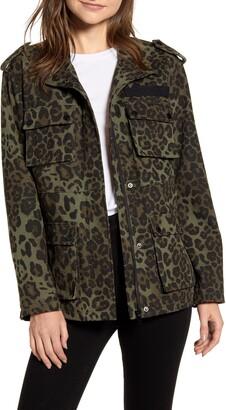 AVEC LES FILLES Cotton Canvas Cargo Jacket