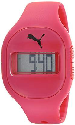 Puma Fuse Unisex Digital Watch with Red Dial Digital Display and Red PU Strap PU910921003