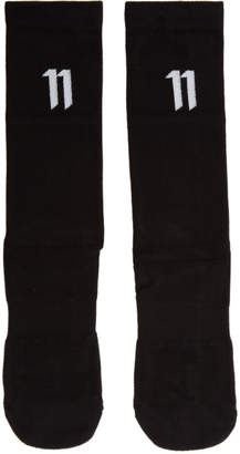11 By Boris Bidjan Saberi Three-Pack Black Bamboo Logo Socks