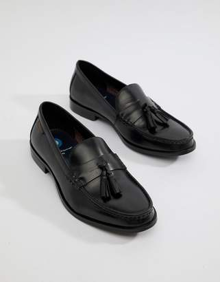 Ben Sherman Loco Tassel Loafers In Black Leather