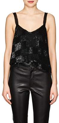 retrofête Women's Sandra Checked Sequined Top