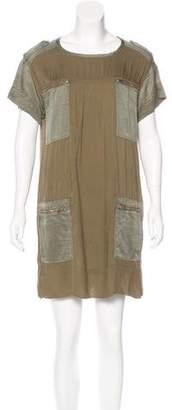 Etoile Isabel Marant Silk-Accented Mini Dress