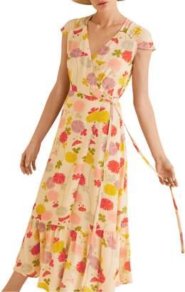 MANGO Floral Print Midi Dress