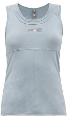 adidas by Stella McCartney Cut Out Back Training Tank Top - Womens - Light Blue