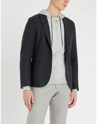 Eleventy Zip-up wool and silk-blend hoody