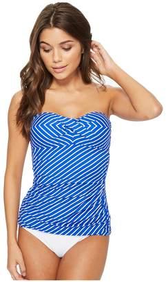 Lauren Ralph Lauren City Stripe Bandini Top Women's Swimwear