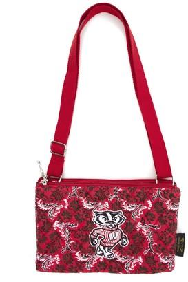 Wisconsin Badgers Bloom Crossbody Bag