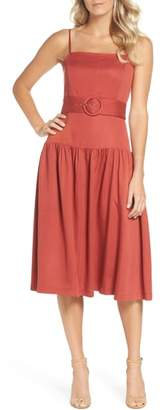 Adelyn Rae Coraline Drop Waist Midi Dress