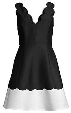 Kate Spade Women's Scalloped Fit& Flare Dress - Size 0