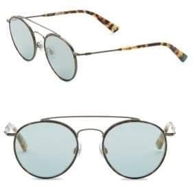 Web 51MM Round Mirror Sunglasses
