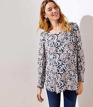 LOFT Maternity Floral Paisley Scoop Next Blouse