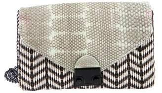 Loeffler Randall Leather Lock Crossbody Bag