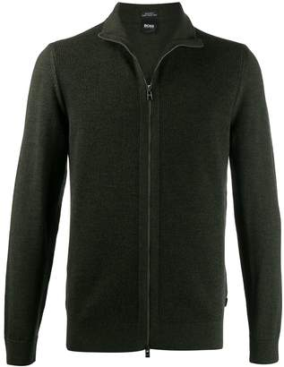 HUGO BOSS zip front sweatshirt