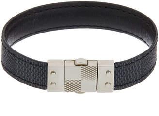Louis Vuitton Gold-Tone & Damier Graphite Canvas Check It Bracelet