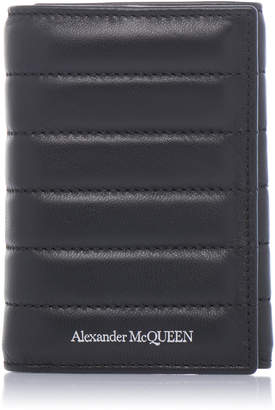 Alexander McQueen Quilted Leather Trifold Wallet