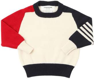 Thom Browne Knitted Cashmere Sweater W/ Stripes