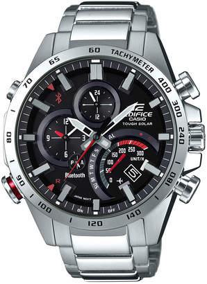 G-Shock Men's Solar Edifice Stainless Steel Bracelet Watch 48mm $300 thestylecure.com