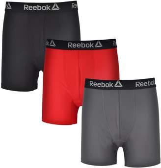 Reebok Mens 3 Pack Performance Anti-Microbial Boxer Briefs XL