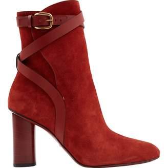 Gucci Orange Suede Boots