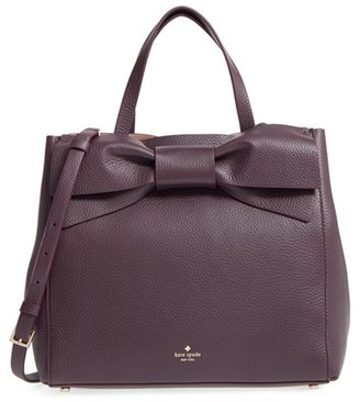 Kate Spade New York Olive Drive Brigette Leather Satchel - Burgundy $448 thestylecure.com