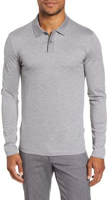 BOSS Paschal Slim Fit Long Sleeve Polo