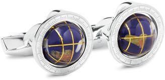 Globe Cage Sterling Silver Multi-Stone Cufflinks