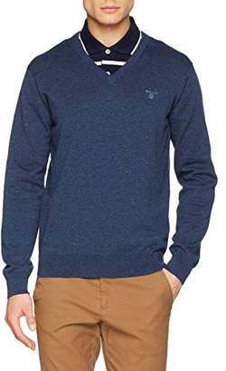 d1e3e314418277 Gant Men's LT. Weight Cotton V-Neck Jumper,(Size: L)