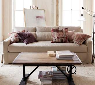 Pottery Barn York Slope Arm Deep Seat Slipcovered Sofa
